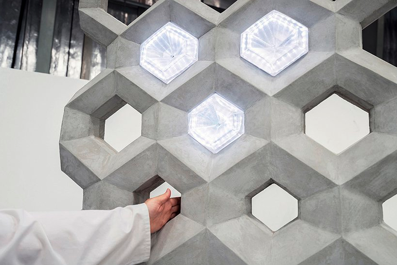 The NOWlab and Immensa Technology Labs' Smart Concrete Wall. Photo via NOWlab/Immensa