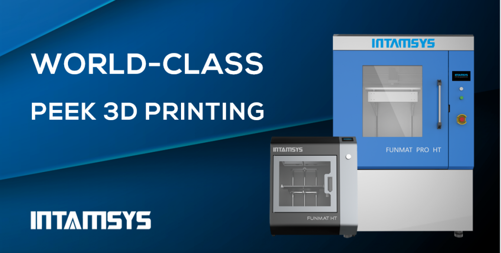The INTAMSYS family of PEEK 3D printers. Image via INTAMSYS