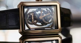 The Chanel Boy-Friend Skeleton Watch. Photo via Chanel