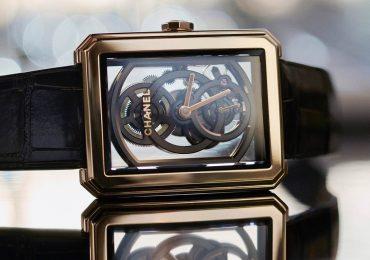 The Chanel Boy-Friend Skeleton Watch. Photo via Chanel