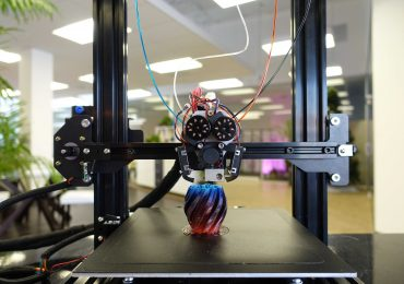 The Crane Quad 3D printer. Photo via M3D