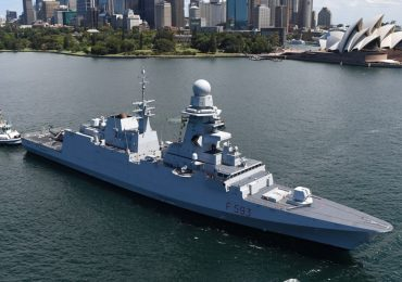 A Fincantieri ship in Sydney harbor. Photo via Fincantieri Australia