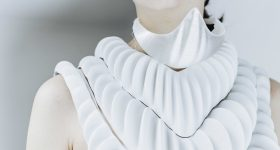 Amphibio 3D printed gills. Design by Jun Kamei / Photography by Mikito Tateisi / Model Jessica Wang