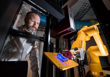 Sandia materials scientist Brad Boyce and the Alinstante systems. Photo via Sandia National Laboratories