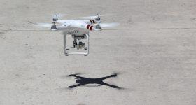 A drone in flight. Public domain photo via pxhere