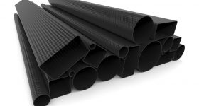 Recycled carbon fiber tubes from Vartega. Photo via Vartega
