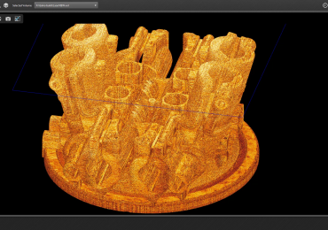 InfiniAM Spectral screen shot showing 3D data reveal. Image via Renishaw.