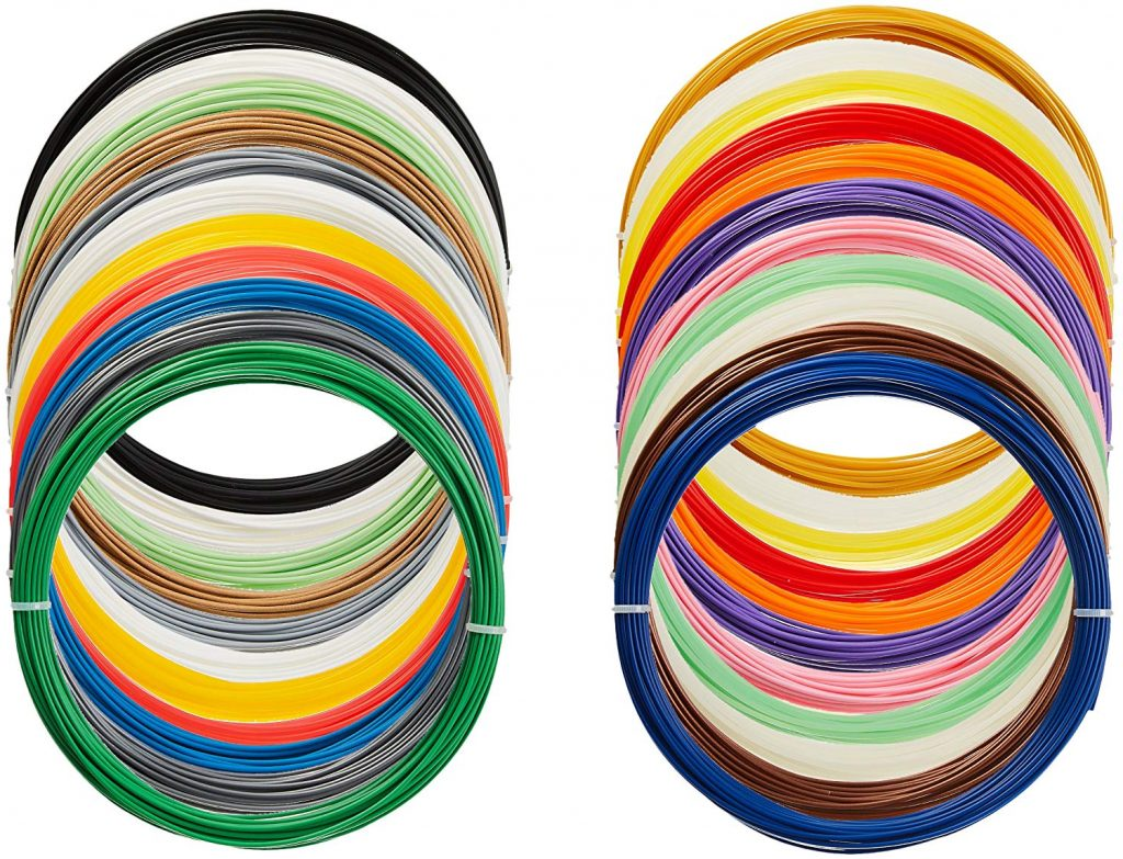 Variety of AmazonBasics PLA colors. Photo via Amazon