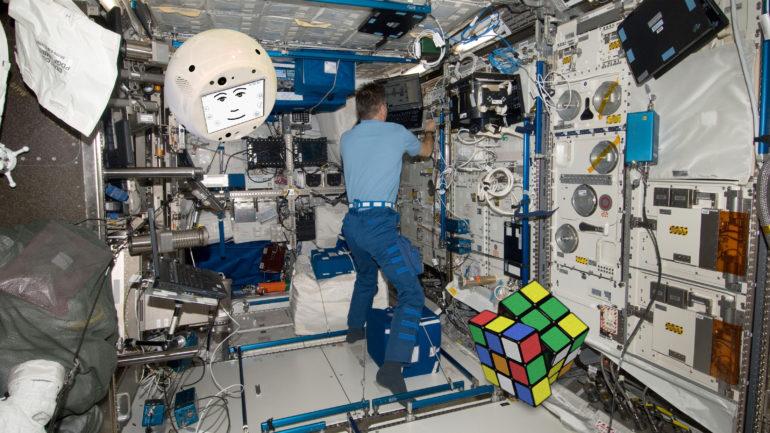 CIMON the 3D printed AI on board ISS. Photo via CBR Online.