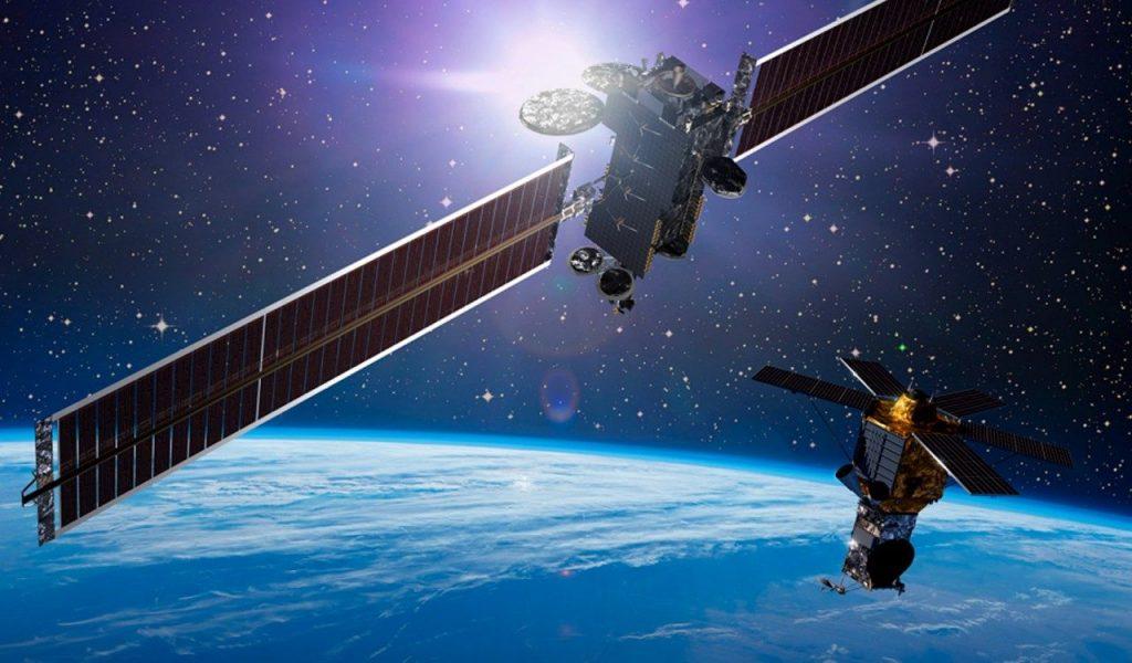 Lockheed Martin commercial satellites in space. Image via Lockheed Martin.