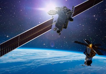 Lockheed Martin commercial satellites in space. Image via Lockheed Martin.