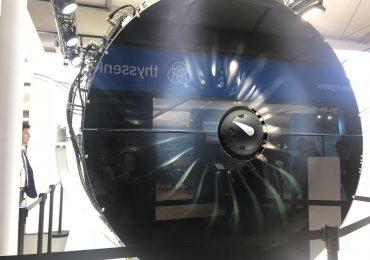 A Pratt & Whitney PW 1000G turbine engine. Photo by Beau Jackson
