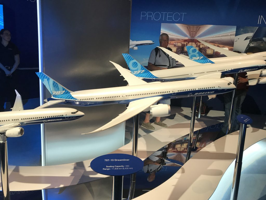 Evolution of Boeing Airlines including the 787 Dreamliner - installed with Norsk Titanium 3D printed parts. Photo by Beau Jackson
