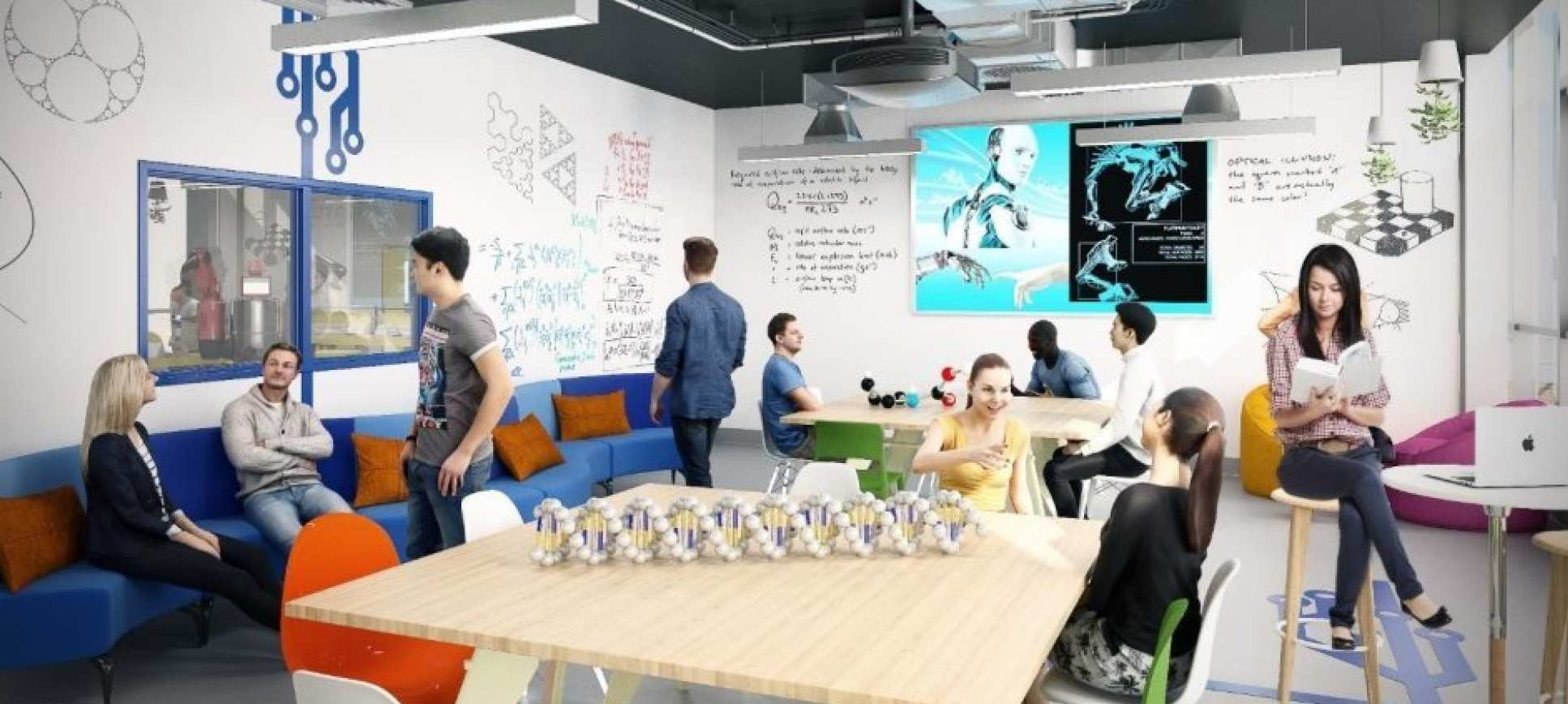 The White City Invention Rooms Design Studio. Image via Imperial College London.