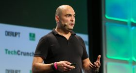 John Dogru at TechCrunch Disrupt.
