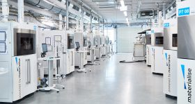 Materialise 3D printer facility in Leuven, Belgium. Photo via Materialise