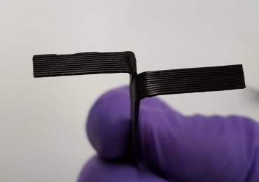 Researchers at ORNL developed a scalable processing technique to 3D print a plant-based composite material. Credit: Ngoc Nguyen/Oak Ridge National Laboratory, U.S. Dept. of Energy