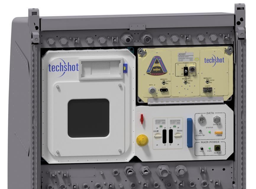 Rendering of Techshot and nScrypt BioFabfication Facility in an EXPRESS rack. Image via nScrypt.