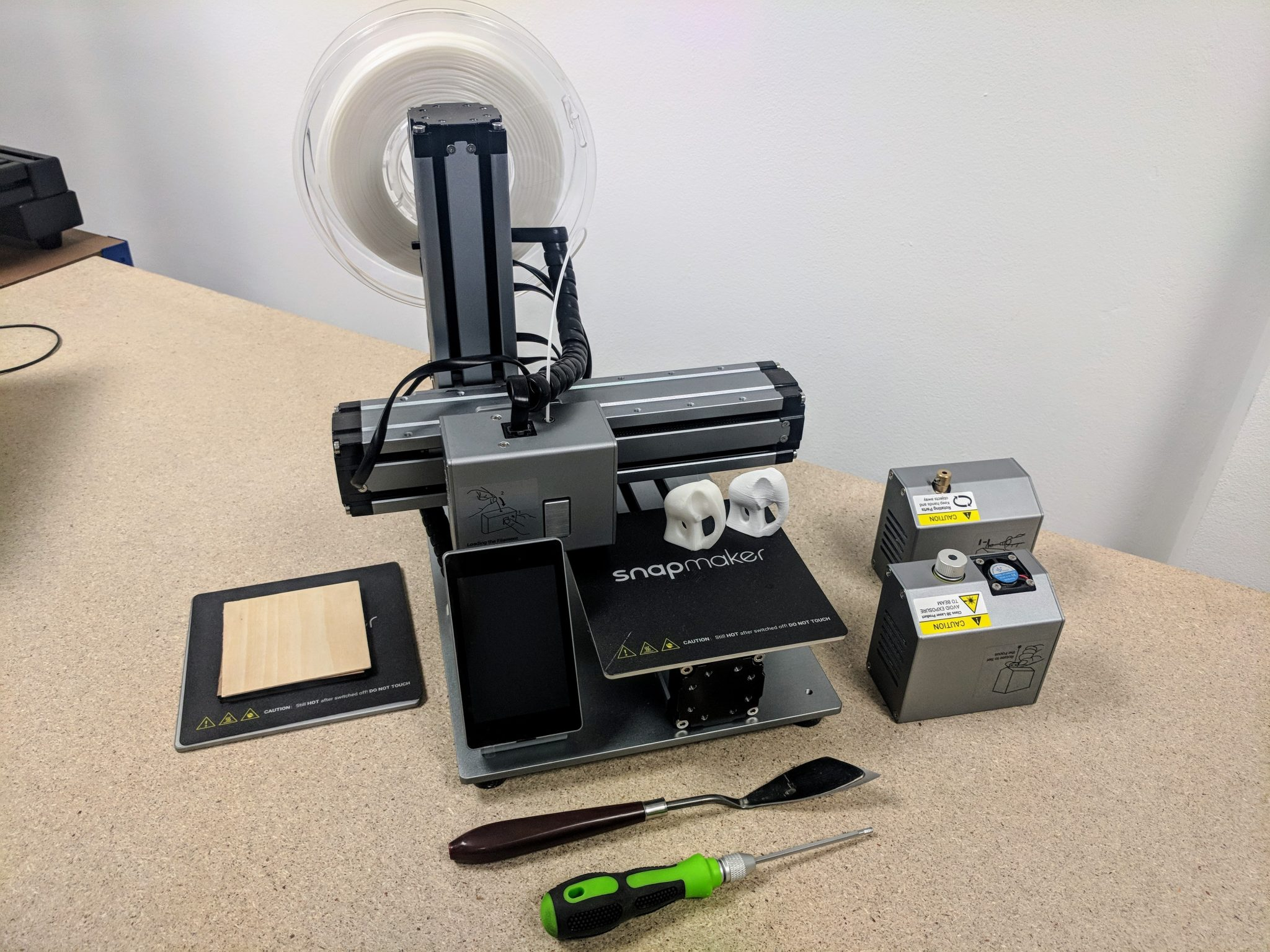 Zaawansowane Review: The Snapmaker 3-in-1 3D printer, laser engraver and CNC ON11