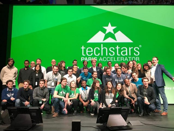 The Techstars team at a Demo Day for the Paris Accelerator program. Photo via Techstars.