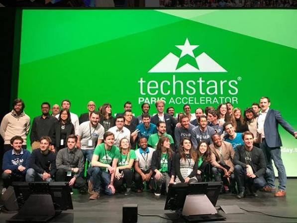 The Techstars team at a Demo Day for the Paris Accelerator program. Photo via Techstars.