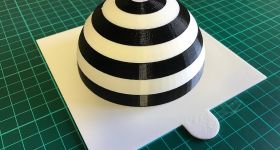 3D printed spherical visual aid model. Photo via Print My Part.