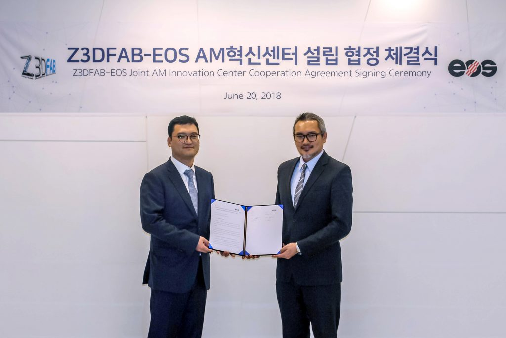 Z3DFAB and EOS have signed an agreement for a 3D Printing Innovation Center. Photo via Z3DFAB.