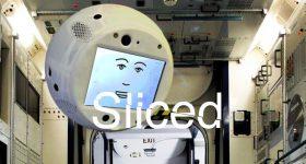 The AI space robot CIMON. Photo via Airbus.
