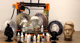 A range of sculptable 3D printed materials. Photo via Thibra.