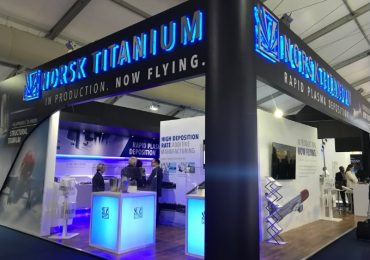The Norsk Titanium exhibition at the Farnborough International Airshow 2018. Photo by 3D Printing Industry.