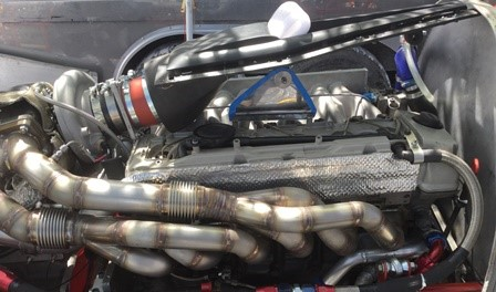 NACA duct placed on Engine. Photo via Victory Motorsport tea.