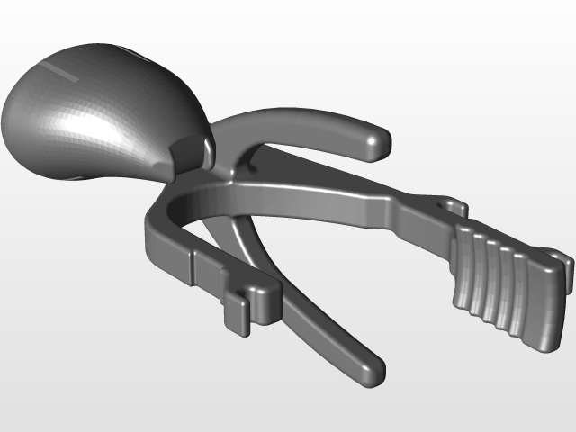 The 1st place tertiary design for the adaptable thumb device. Image via GrabCAD.