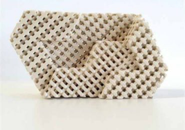 A 3D printed brick using Tethonite materials. Photo via Tethon.