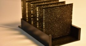 UCLA's 3D printed artificial neural network. Photo via UCLA Samueli / Ozcan Research Group