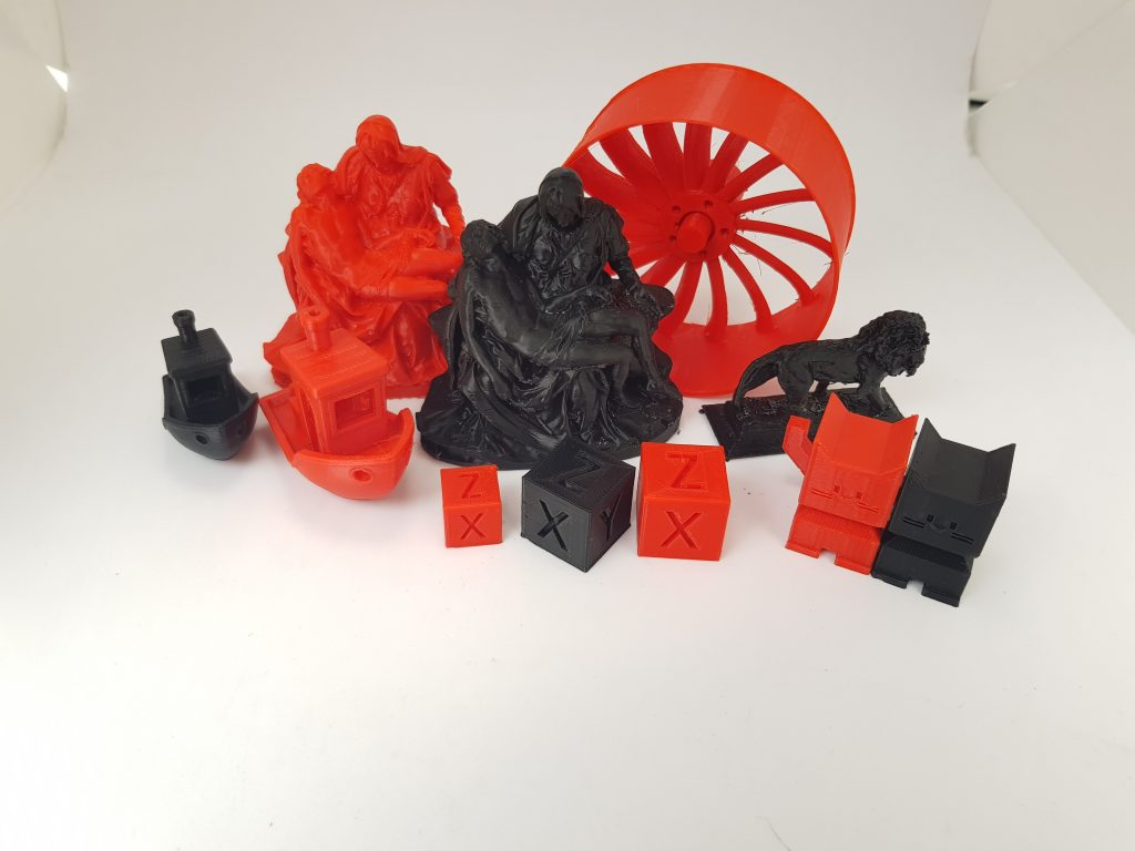 Range of test prints made from Amazon Basics filament. Photo by 3D Printing Industry