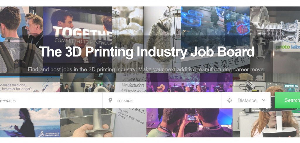 The 3D Printing certification Industry Jobs Board.