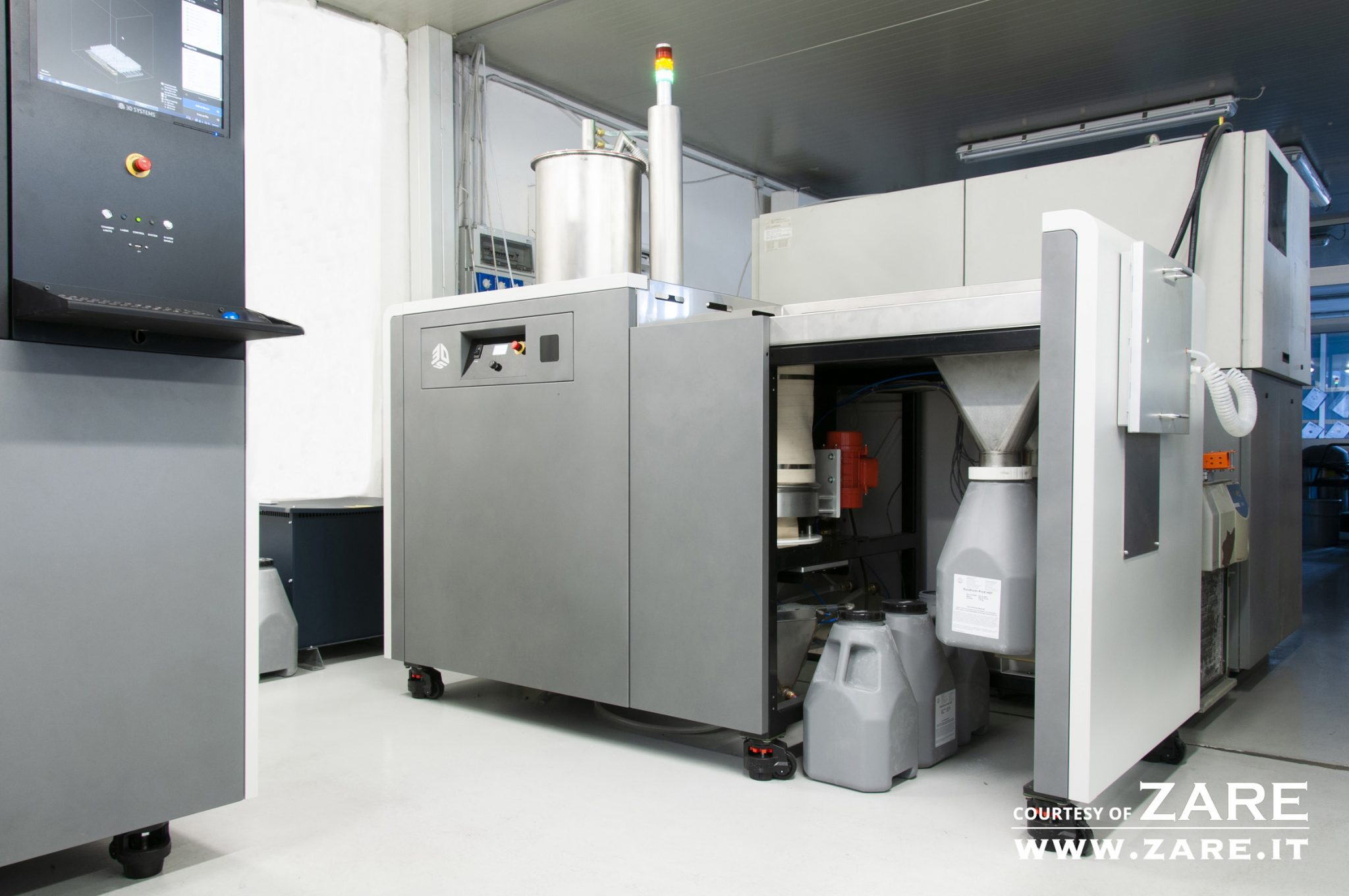 The 3D Systems ProX SLS 6100 3D printer installed at ZARE. Photo via ZARE.