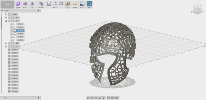 The completed helmet design based on the 3D data. Image via Shining 3D.