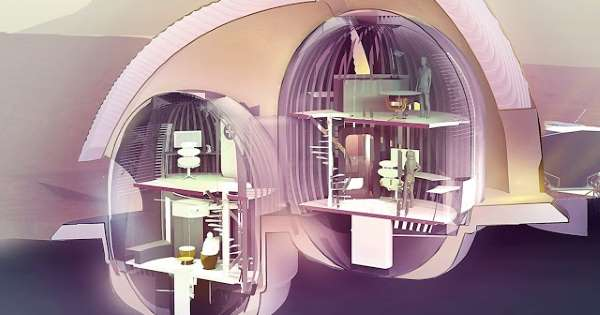 Multi-story house designed by SEArch + / Apis Cor. Picture through msn