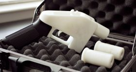 The Plastic Liberator handgun. Photo via Defense Distributed