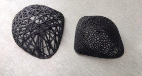 The 3D printed plastic tumour models. Photo via the University of Waikato.