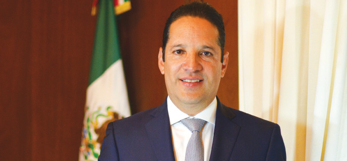 Francisco Domínguez Servien, the governor of Querétaro. Photo by Y.Calixto