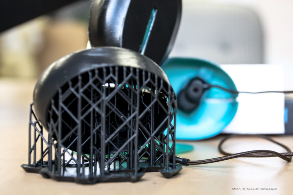 The 3D printed sound isolating earphones from CRDESIGNstudio. Photo via CRDESIGNstudio.