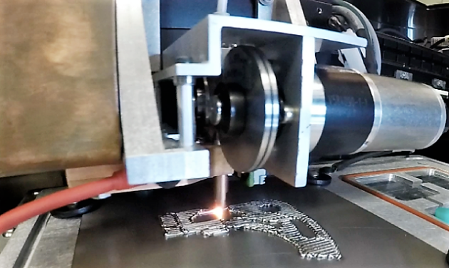 Joule Printing allows additive manufacturing of metal components. Photo via Digital Alloys.