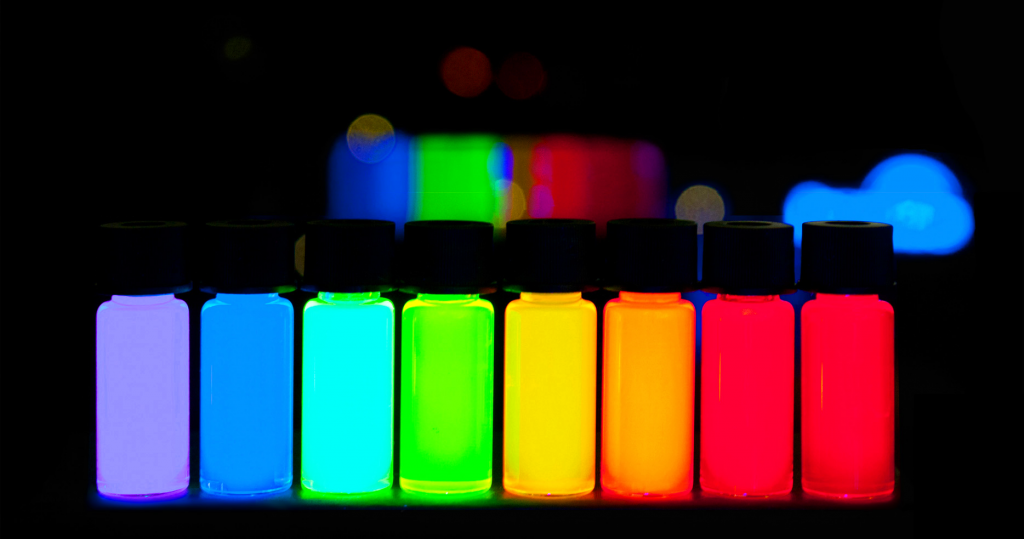 Color range of carbon quantum dots. Image via BIS Research