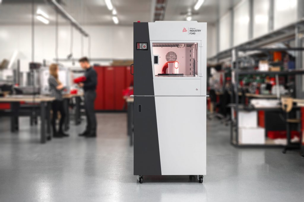 The 3DGence INDUSTRY F340 industrial 3D printer.