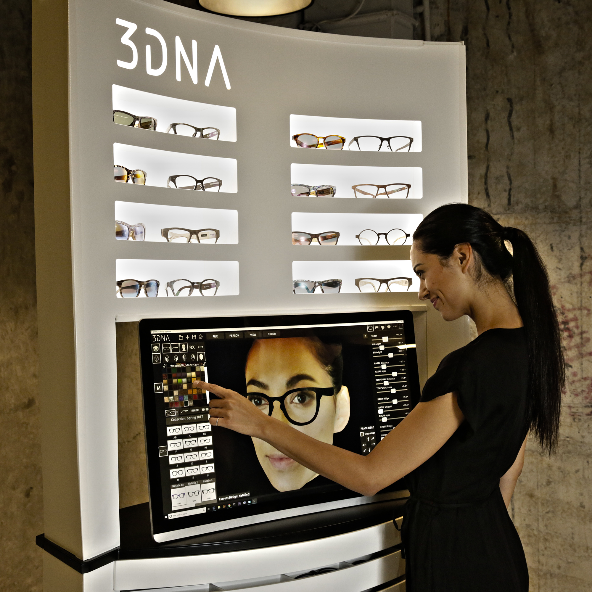The 3DNA Eyewear system. Photo via Eye-DNA.