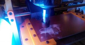 Featured image shows the 3D printed CNC machine. Photo via Reddit