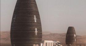 "Featured image shows the virtual design of AI. SpaceFactory's Mars habitat named ""MASHA"". Photo via NASA"