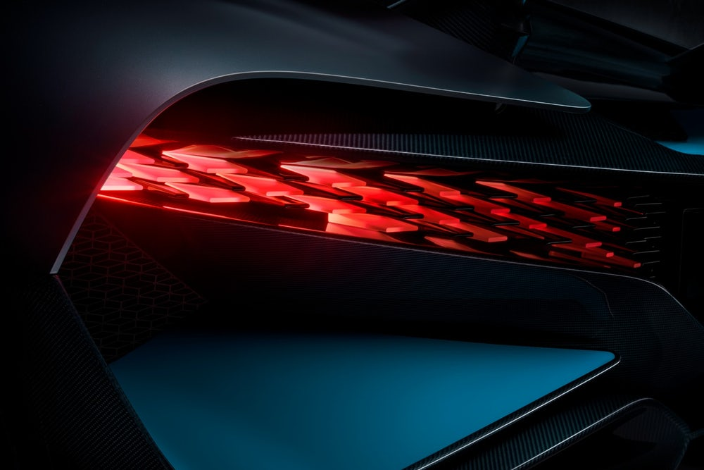 Bugatti Divo unveiled with form-following 3D printed fin tail lights